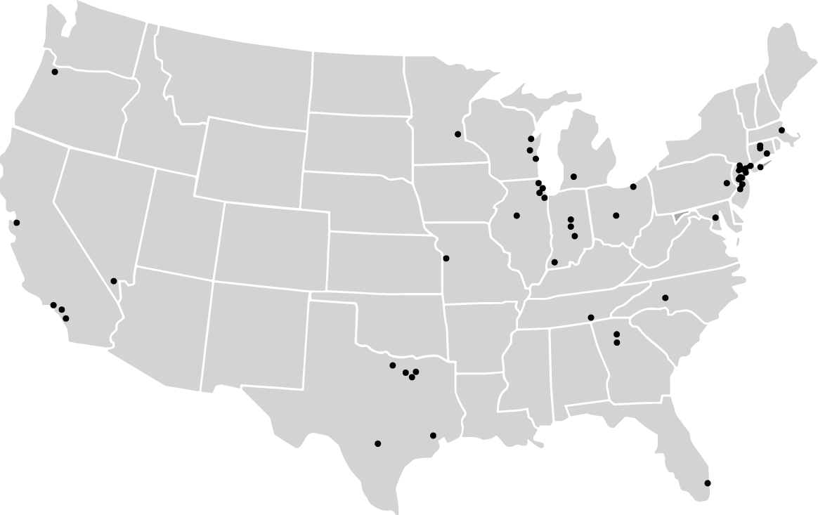 KnowledgeConnect Locations Map